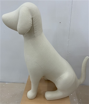Large Sitting Dog Mannequin