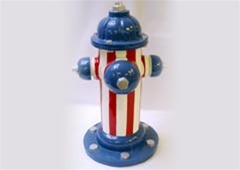 Stars and Stripes Fire Hydrant