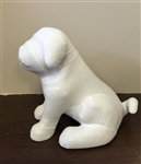 Small Sitting Bulldog Mannequin
