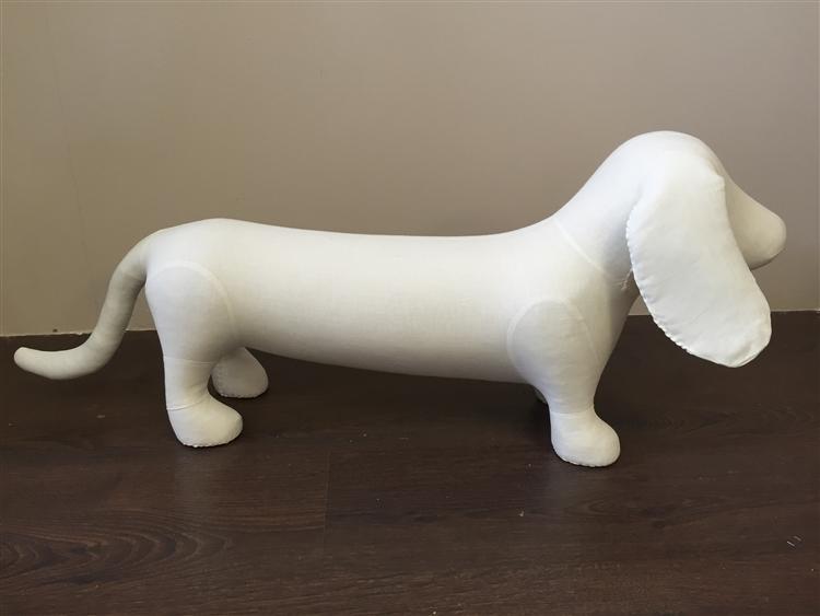 Dog Mannequin Dachshund Foam Linen Dog Prop Display