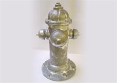 Silver Aged Fire Hydrant